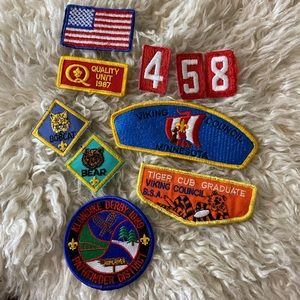 Set of 10 Vintage 80s Boy Scout Patches